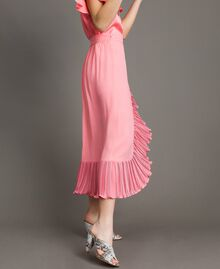 "Maxirock aus plissierter Seidenmischung ""Wild Rose"" Pink Frau 191TP2146-01"