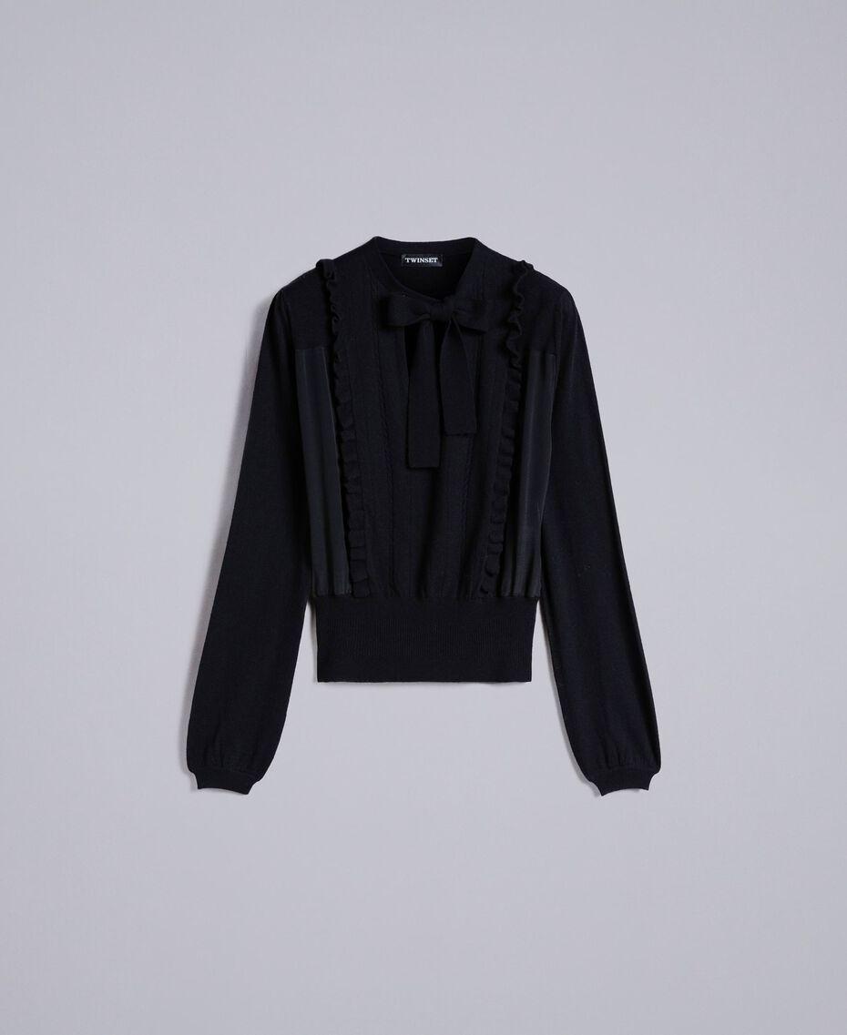 Pull en laine et cachemire Noir Femme PA83AN-0S