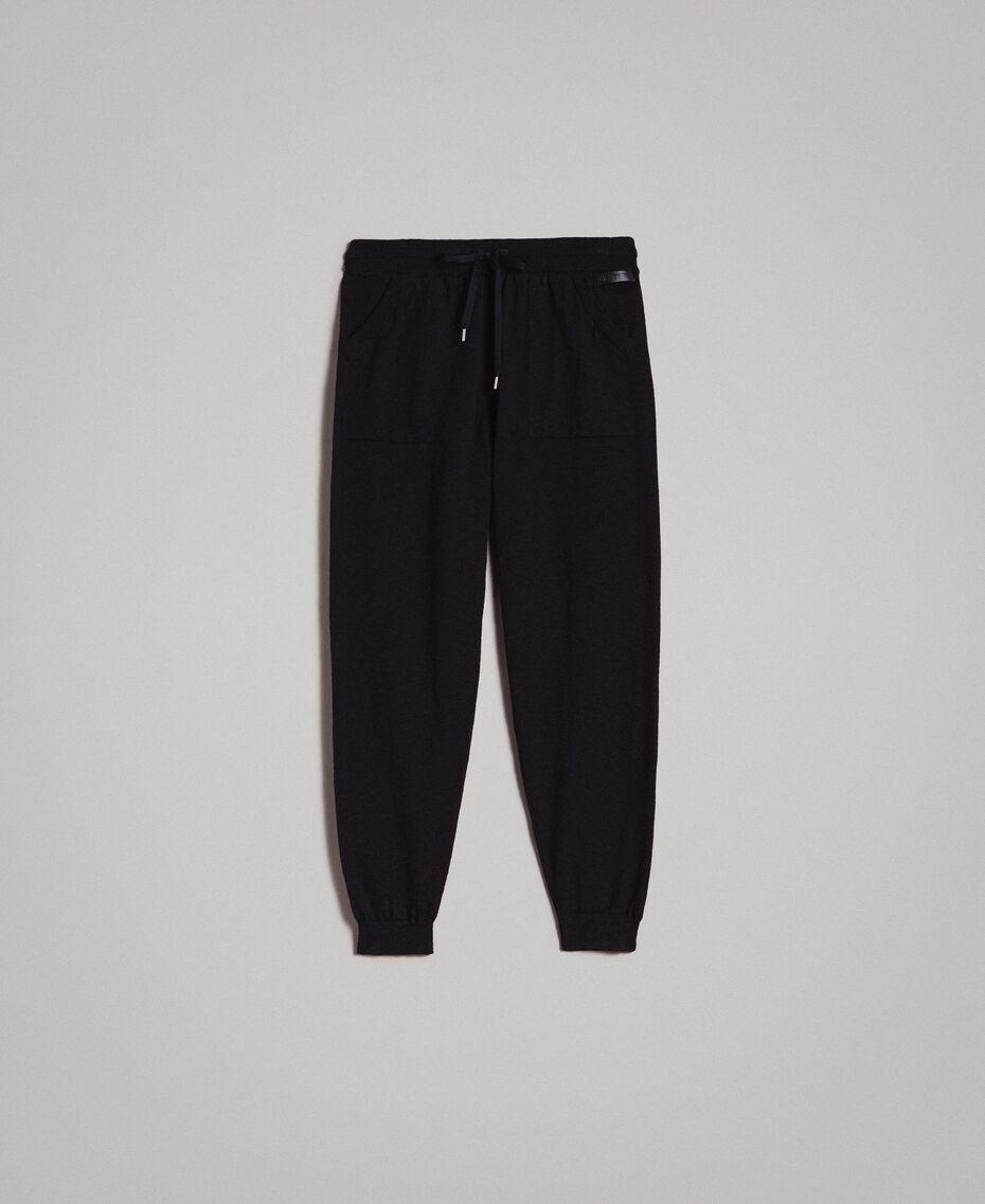 Jogginghose aus Slub-Baumwollmischung Schwarz Mann 191UT3091-0S