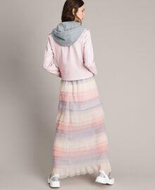 Long jupe plissée à volants Multicolore Tulle Femme 191MP2232-04