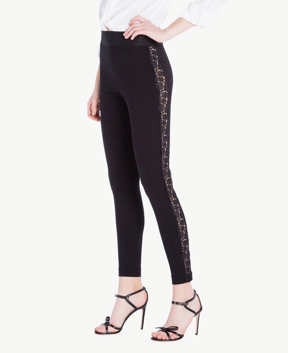 Lace leggings Black Woman PS828F-02