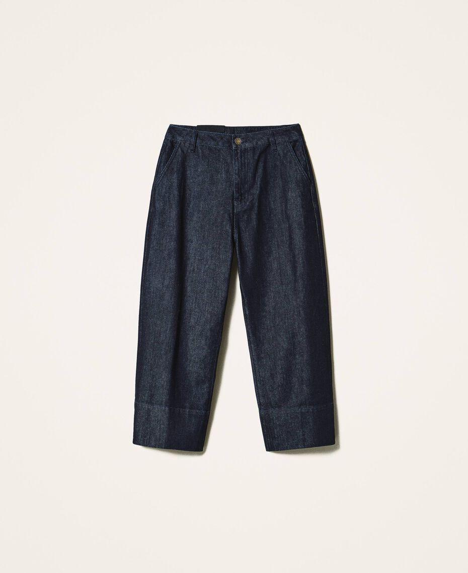 Свободные прямые джинсы Тёмный Деним женщина 202MP2072-0S