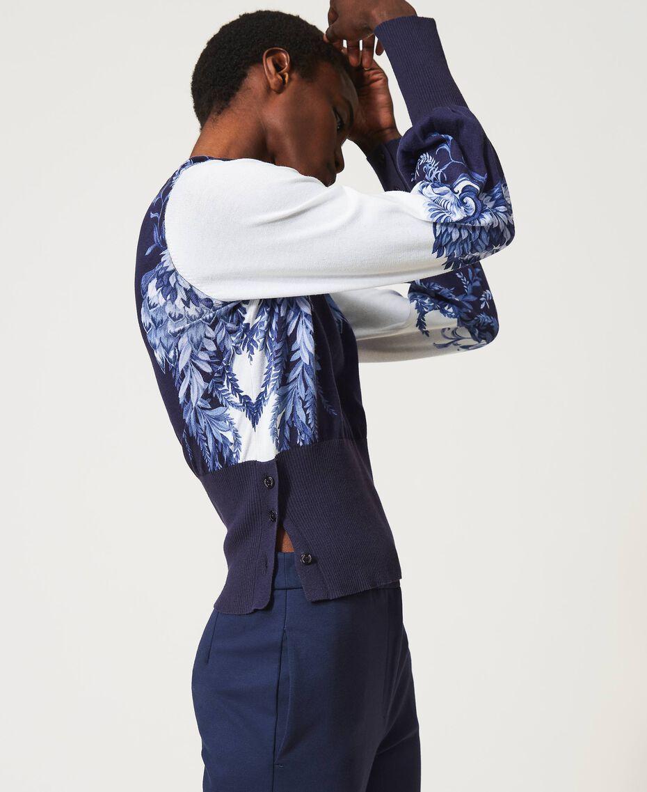 Jersey estampado Estampado «Porcelain Blue And White» Mujer 211TT3131-02