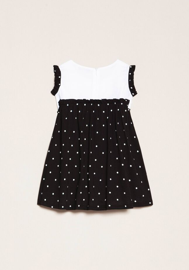 Платье с принтом в горошек