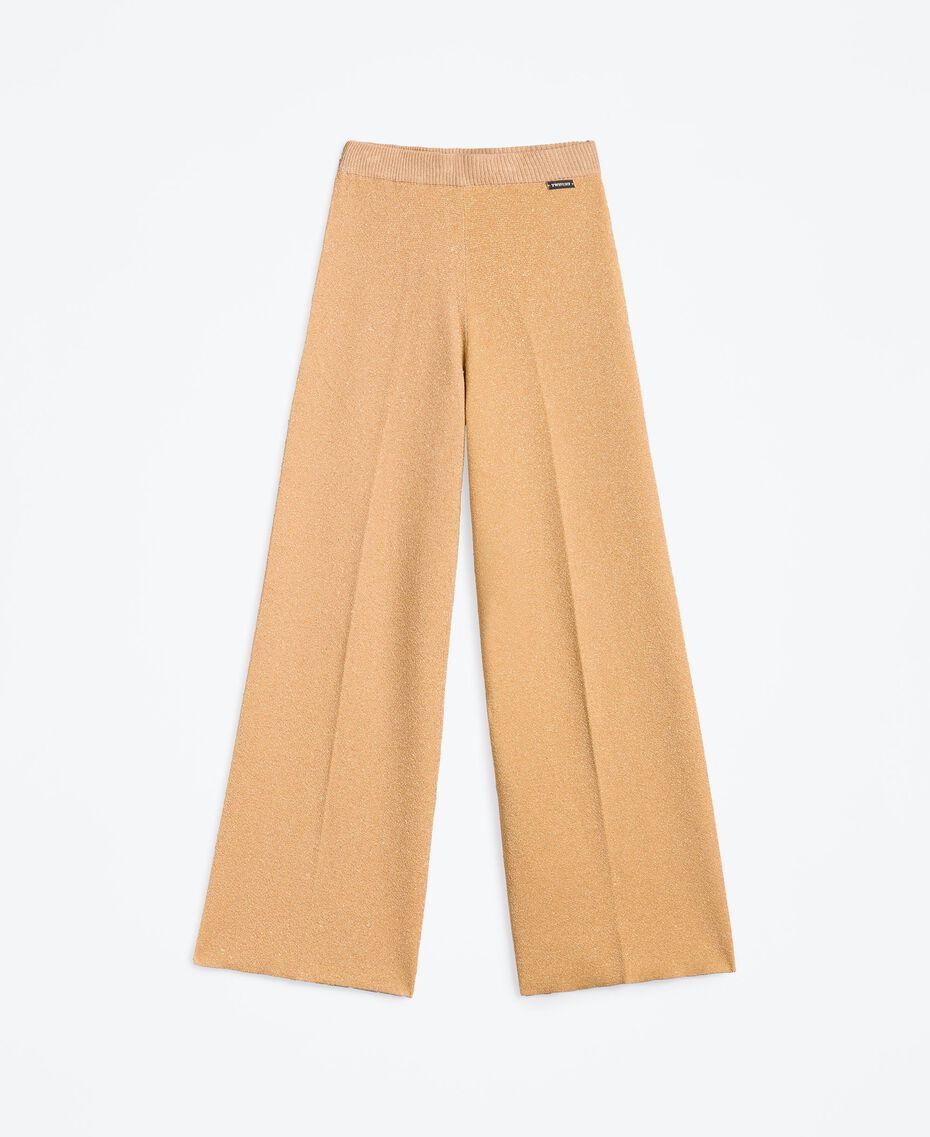 """Широкие брюки из трикотажа с люрексом Розовый """"Дюны"""" женщина LA8LGG-01"""