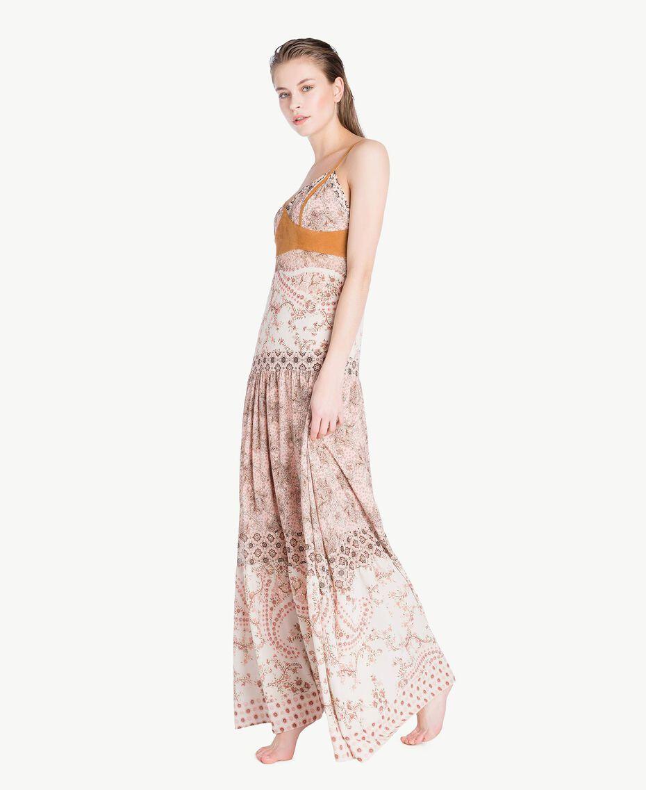 Robe longue imprimé Imprimé Patch Rose Vegas Femme BS8AMM-03