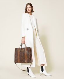 Large Twinset Bag leather shopper Leather Whips Print Woman 212TB7290-0S