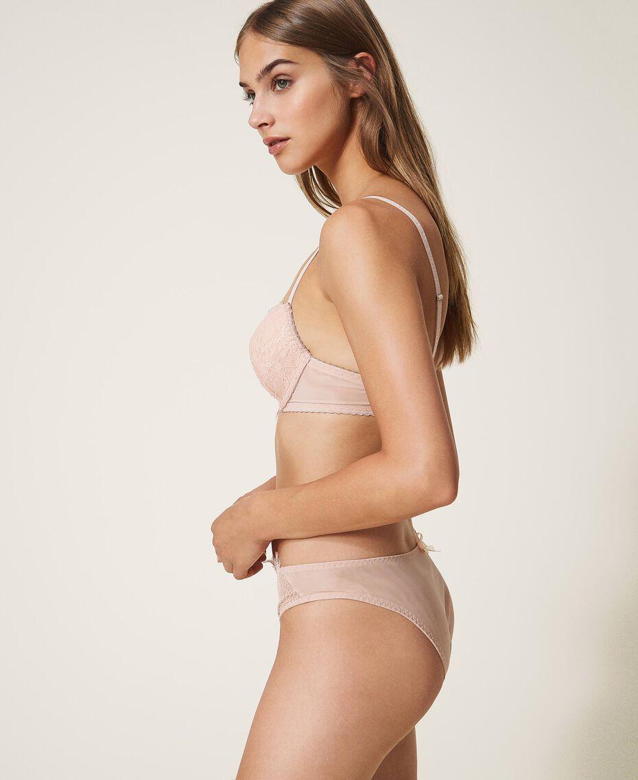 Lace and tulle push-up bra Black Woman 202LI6144-02
