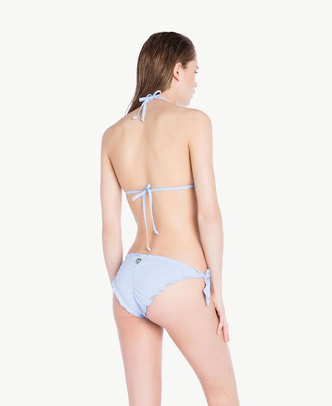"Triangel-Bikinitop mit Stickerei ""Blue Spume""-Azur Frau BS8E22-04"