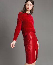 Fur stitch jumper Black Woman 191TP3421-04