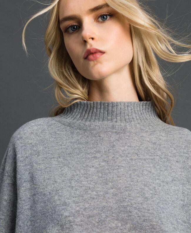 Pull en laine et cachemire Gris Mélangé Femme 192TT3025-04