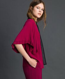 Crêpe de Chine silk blend shirt Beet Red Woman 192TP2260-02