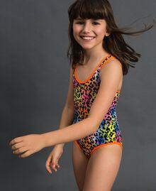 Girl's swimsuit 'Elettra x Twinset' Leopard Print / Fluorescent Orange Child 191TQM028-0S
