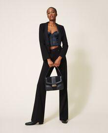 Satin bustier top Black / Black Woman 202TP6743-0T