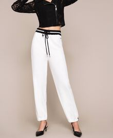 Plush and knit joggers Lily Woman 201MP3211-04