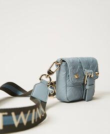 Small Rebel shoulder bag with logo Blue ash Woman 202TB7162-01