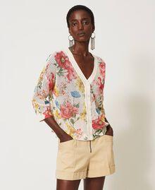 Floral print cardigan-jumper Meadow Flower Print Woman 211TT3141-02