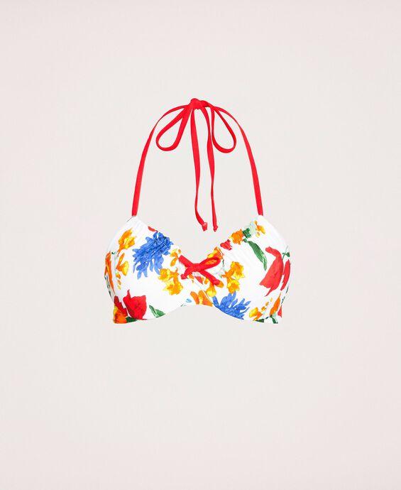 Underwire floral bikini top