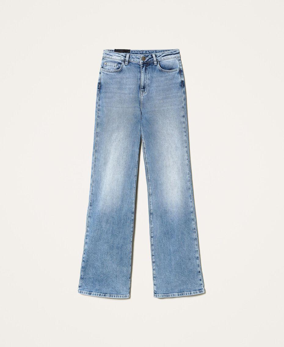 "Wide leg jeans ""Mid Denim"" Blue Woman 202MP2500-0S"