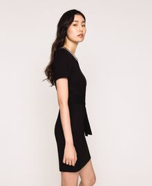 Dress with studs Black Woman 201MP2211-04