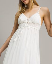 Long dress with crochet top Ivory Woman 191LM2NDD-01