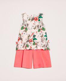 Top imprimé et pantalon cropped Bicolore Imprimé Savane Rose / Rouge «Calypso Coral» Enfant 201GB2330-01