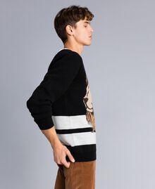 Wool blend oversized jumper Black Man UA83H2-02