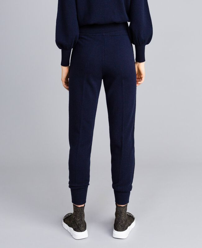 Jogginghose aus Wolle und Kaschmir Nachtblau Frau TA83AA-03