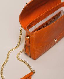 Medium Rebel leather shoulder bag Titanium Gray Woman 999TA7233-05