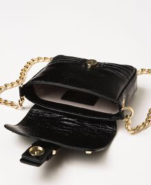 Small Rebel leather shoulder bag Black Woman 201TO823T-05