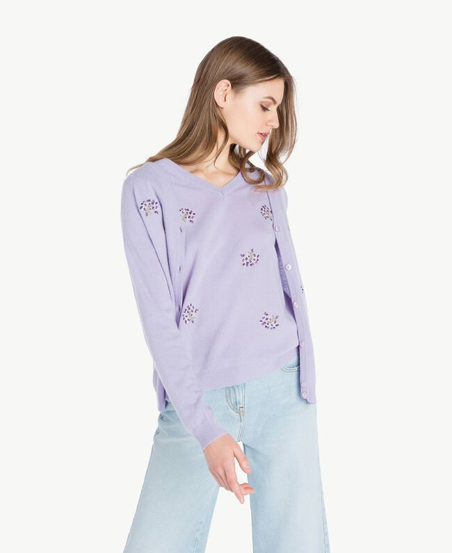 Embroidered cardigan and top Violet Woman PS83YA-01