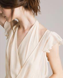 """Robe longue en crépon Beige """"Voie Lactée"""" Femme 191LB21HH-05"""