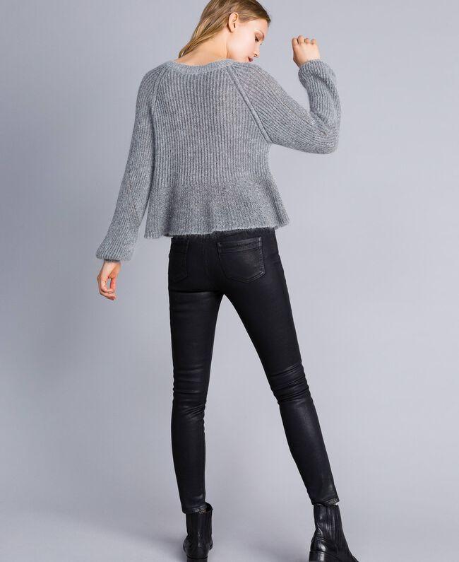 Lurex and mohair jumper Grey Silver Lurex Melange Woman TA832A-03