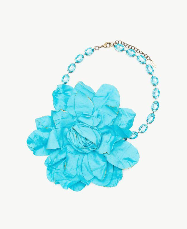 Collier ras-de-cou fleur Turquoise Femme AS8P72-01
