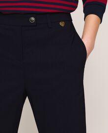 Pantalon ajusté avec poches Bleu Nuit Femme 201TP2511-04