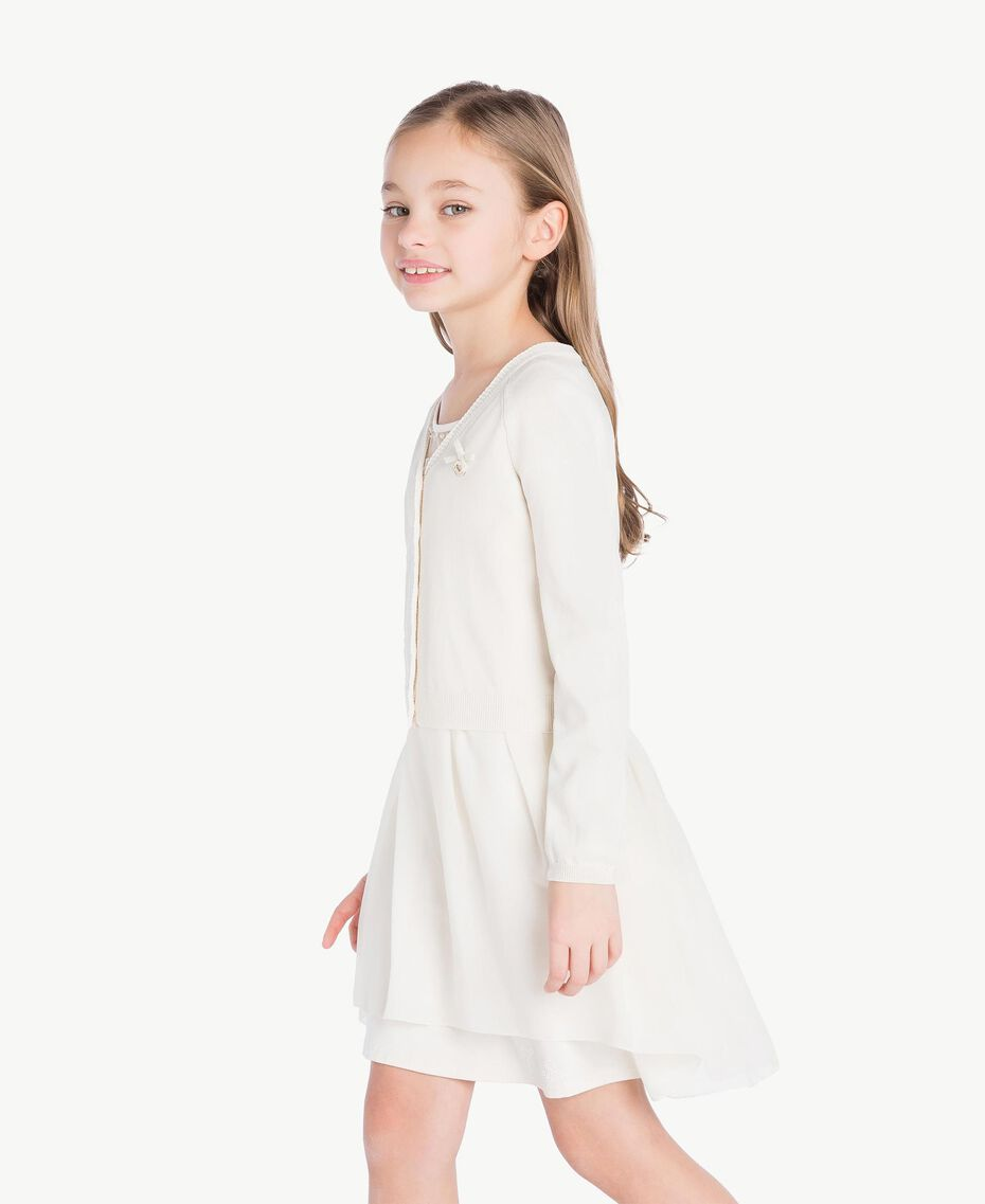 Bow cardigan Pale Cream Child GS83AA-03