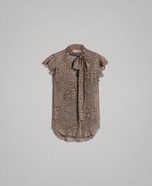 Georgette-Bluse mit Tiermuster Motiv Kleine Tiere Frau 191TP2720-0S