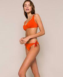 "Triangle bikini top with heart ""Ace"" Orange Woman 201LBMCVV-04"