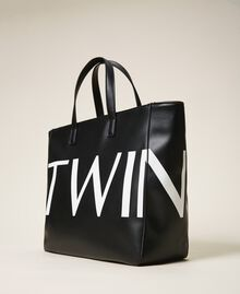 Shopper with maxi logo Black Woman 202TB7220-02