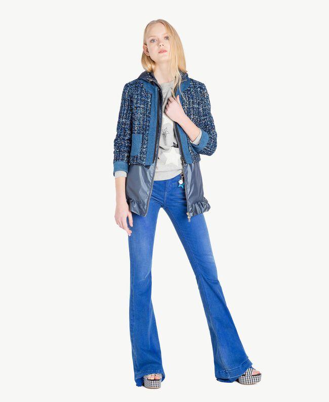 Ruffled jacket Dallas Blue Woman JS821C-05