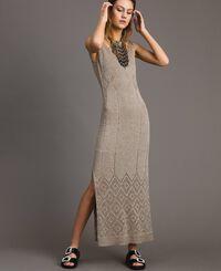 Long openwork lurex dress