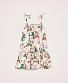"Printed poplin dress ""Savannah"" Pink Print Child 201GB2333-01"