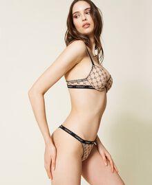 Reggiseno push-up in tulle Bicolor Nude Skin / Nero Donna 212LI6C44-02