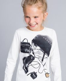 Printed t-shirt with heart Off White Child GA821U-04