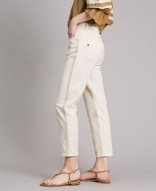 "Pantaloni girlfriend con ricami Beige ""Shell"" Donna 191MT2192-03"