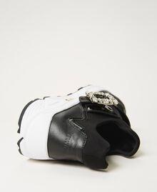 Scarpe running con fibbia gioiello Nero Donna 202TCP012-03