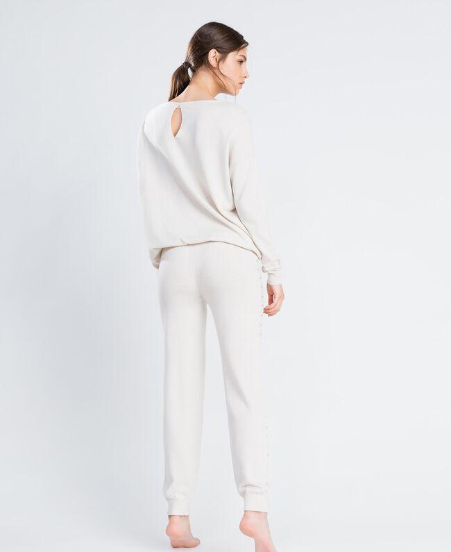 Pantalon de jogging en laine mélangée Blanc Femme IA8ALL-03