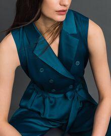 Combinaison croisée avec ceinture Bleu «Lake» Femme 192MP2350-01
