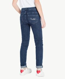 "Embroidered skinny jeans ""Mid Denim"" Blue Child GS82W1-04"