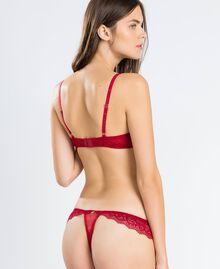 Soutien-gorge triangle en dentelle avec cœurs Rougeâtre Femme LA8A22-03